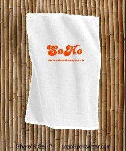 SoHo Golf Towel White Design Zoom